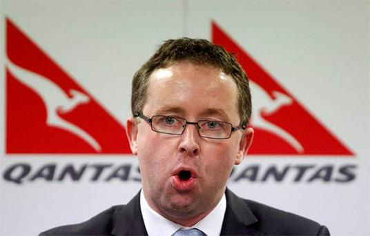 Qantas Chief Executive Officer Alan Joyce gives a news conference at the Qantas headquarters in Sydney. Photo: Reuters