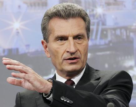 Guenther Oettinger, the German member of the European Commission