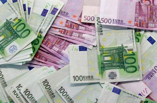 Some €18.28bn was collected in income tax - 1.4pc lower than anticipated for the period to date - while €13.22bn was brought in via Vat. Stock image