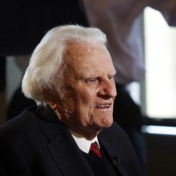 Billy Graham pictured in 2012