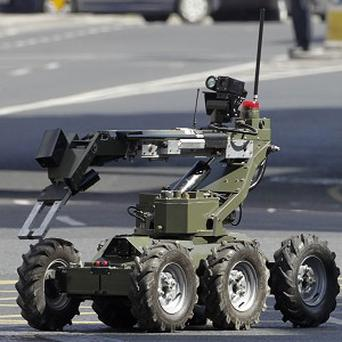 The Amry Bomb Disposal Unit attended the scene. Stock photo