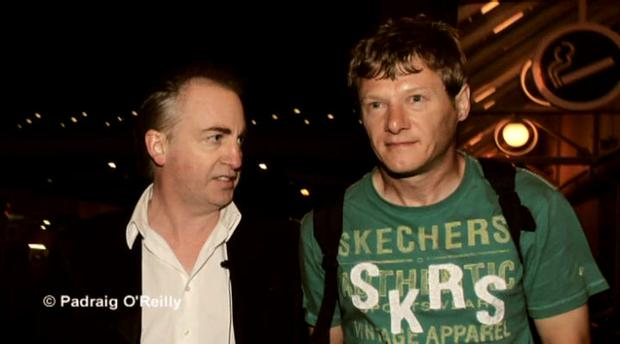 Paul Williams (left) confronts Larry Murphy in 2011