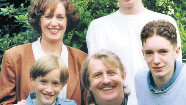 Aengus with first wife Mary and their sons Dion, Evan and Steve