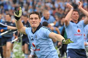 Dublin's Diarmuid Connolly celebrates after his team beat Kerry in the All-Ireland SFC final in September