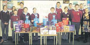 Millstreet Community School stucents who took part in the St Vinncent de Paul's Christmas appeal.