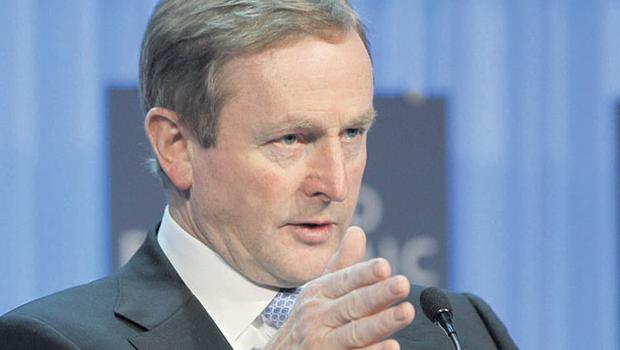THIS MUCH IS TRUE: Taoiseach Enda Kenny speaking at the World Economic Forum in Davos, Switzerland, last Thursday