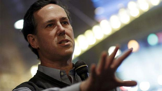Rick Santorum describes the suggestion that humans have contributed to global warming as 'patently absurd'. Photo: Reuters