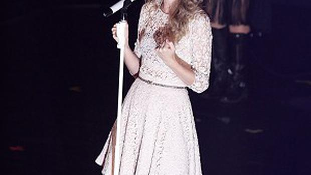 Taylor Swift took home the entertainer of the year award last year