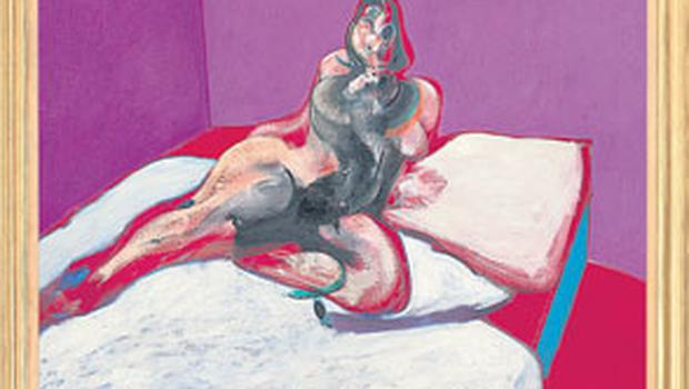 The 'Portrait of Henrietta Moraes' which Francis Bacon painted from a photograph by John Deakin in 1963. CHRISTIE'S IMAGES