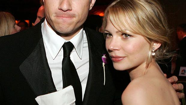 Michelle Williams with the late Heath Ledger