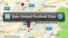 Search for Manchester United Football Club - the most popular football club in the world - and Apple shows you Sale United Football Club, a community team for ages five and above