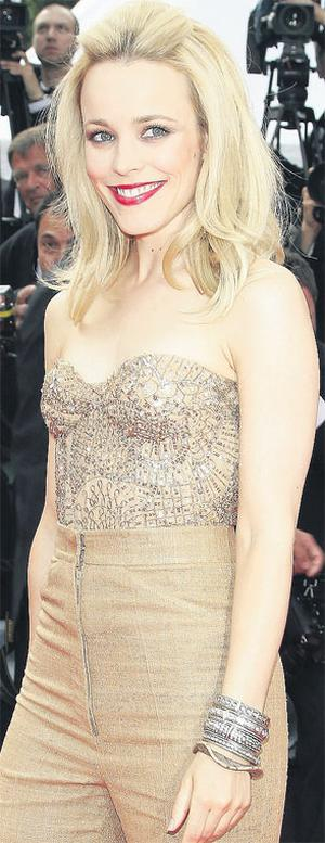 Rachel McAdams arrives at the 'Sleeping Beauty' premiere at the festival yesterday