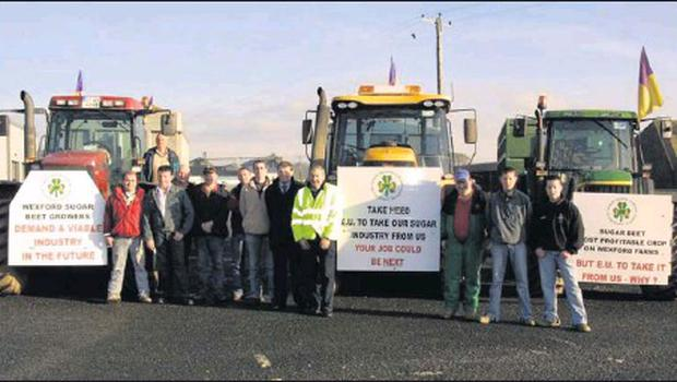 FLASHBACK TO 2005: County Wexford beet farmers on an IFA protest drive to Mallow.