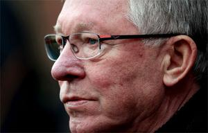 Sir Alex Ferguson: warned City he has 'plenty of ammunition' if they want to engage in mind games. Photo: Getty Images