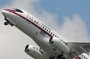 A Sukhoi Superjet 100 similar to the one which has gone missing. Photo: Getty Images