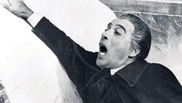 Christopher Lee playing Mr Stoker's most famous creation, Dracula.