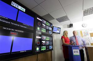 Broadcasting history was made today when RTE's Miriam O'Callaghan switched off the old analogue signal across the country at 10:00am