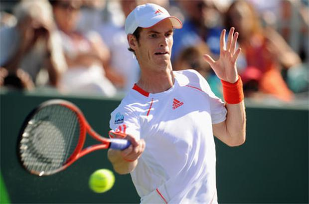 Andy Murray in action during his match against Gilles Simon of France. Photo: Getty Images