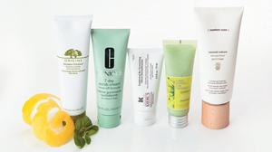 Pictured, from left: Origins Modern Friction; Clinique 7 Day Scrub Cream; Kiehl's Epidermal Re-Texturizing Micro-Dermabrasion; L'Occitane Angelica Exfoliating Gel; Comfort Zone Sacred Nature Gommage