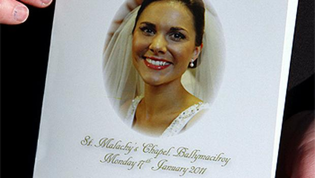 Michaela's picture on the funeral Mass order of service