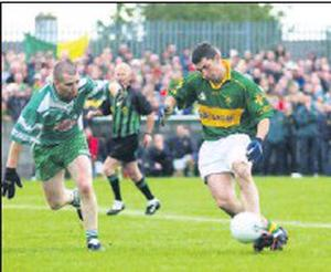Back to his roots. Robert Kearney playing for Cooley Kickhams against St Patrick's in the 2004 Lampost Construction Senior Football Championship Final in Pairc Clan na Gael.