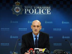 Detective Superintendent Paul Taylor briefs the media at a press conference in Gildersome, Leeds. Photo: PA