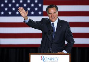 epublican Presidential candidate, former Massachusetts Gov. Mitt Romney declares victory in the Wisconsin presidential primary. Photo: AP
