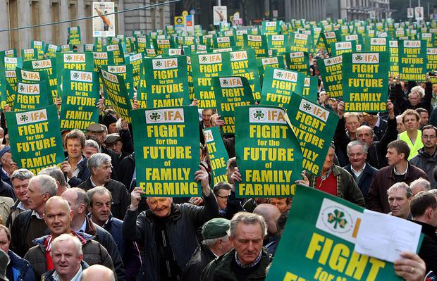 Farmers have held protests against the CAP