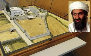 The scale model of the compound in Abbottabad, Pakistan, where Osama bin Laden was killed. Photo: AP