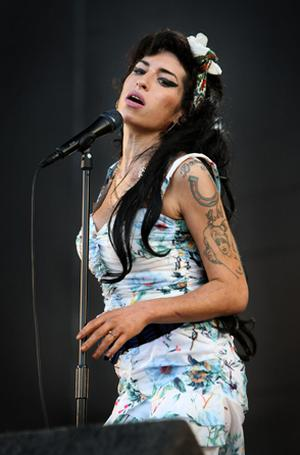 Amy Winehouse pictured live on stage