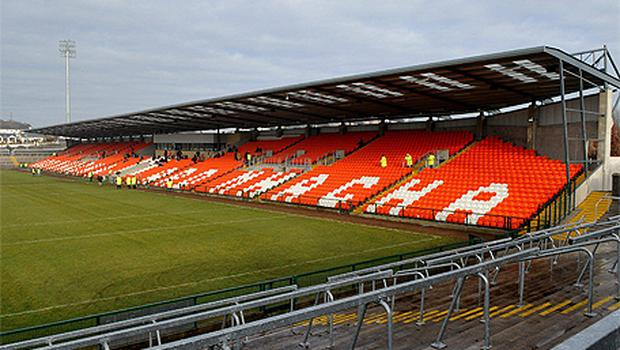 A view of the new stand at the Athletics Ground in Armagh which is at the centre of the naming-rights debate