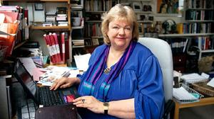 The late Maeve Binchy at her home in Dalkey