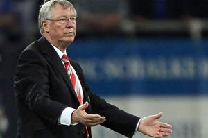 Manchester United manager Alex Ferguson show his frustration. Photo: Getty Images