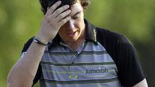 Rory McIlroy cut a disappointed figure at Augusta on Sunday. Photo: AP