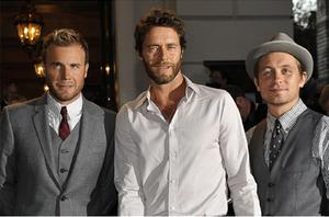 (From left) Gary Barlow, Howard Donald and Mark Owen of Take That. Photo: Reuters