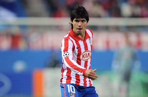Target man: Chelsea want to sign Atletico Madrid's star striker Sergio Aguero Photo: Getty Images