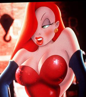 The cartoon character Jessica Rabbit from 'Who Framed Roger Rabbit'