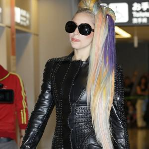 Lady Gaga sported 'rainbow hair' on her trip to Japan