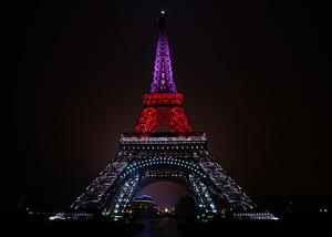 The Eiffel Tower lit up for Christmas. Photo: Getty Images
