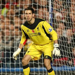 Brad Jones signed a new contract at Liverpool in 2012