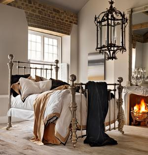 Dickens polished nickel bed And So To Bed. Photo: PA