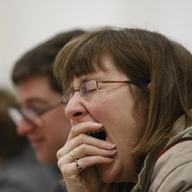 Yawning is contagious - particularly among family members and friends, a study showed