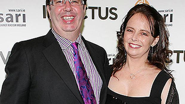 The late Gerry Ryan pictured with partner Melanie Verwoerd
