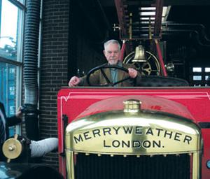 Paddy at the wheel of the same fire engine
