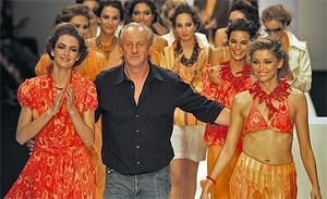 Top designer Paul Costelloe, pictured above at the height of his powers in 2006 - has decided to scrap his autumn-winter 2011 collection, which was launched to great acclaim in February