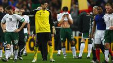 Scenes on the pitch after the final whistle at the Stade de France. Photo: Getty Images