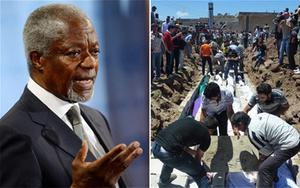 International envoy Kofi Annan warned against allowing 'mass killings to become part of everyday reality in Syria'