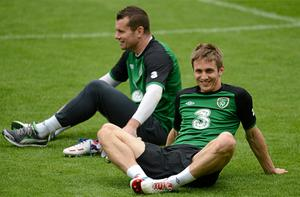 Kevin Doyle, right, and Shay Given