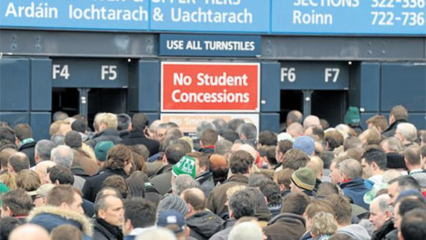 Attendances are likely to hold in the GAA but reduced ticket prices means reduced income.