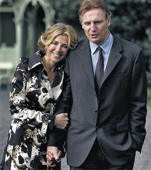 Liam Neeson and late wife Natasha Richardson pictured together in Dublin in 2008. Photo: Steve Humphreys